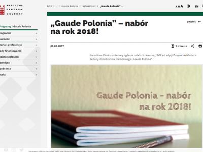 Program - Gaude Polonia